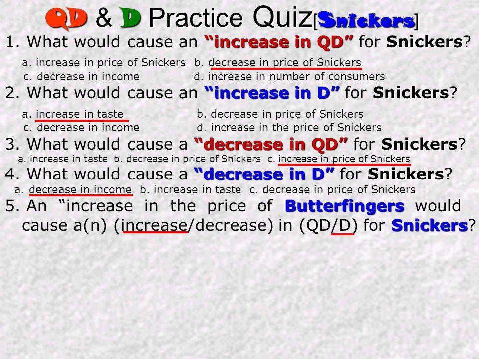QD & D Practice Quiz[Snickers]